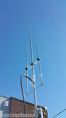 70MHz 4m 5/8 wave vertical antenna - highly efficient - 5 KW power rating