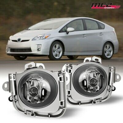 For 2010-2011 Toyota Prius PAIR OE Factory Fit Fog Light Bumper Kit Clear Lens