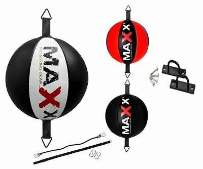 Maxx Leather Double End Dodge Speed Ball Rop MMA Boxing Floor to Ceiling B/BALL