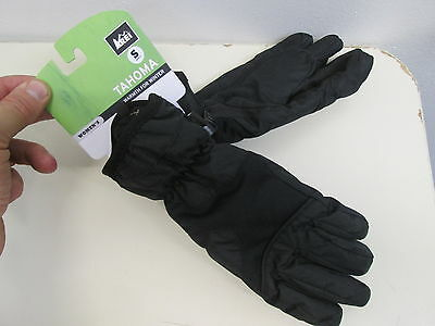 REI Tahoma black winter gloves Fluffy fleece lining for warmth womens S NEW $26