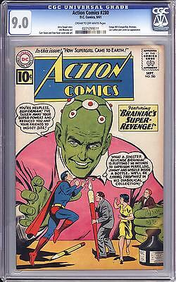 Action Comics #280 Cgc 9.0  Superman, Early Brainiac Cover & Appearance