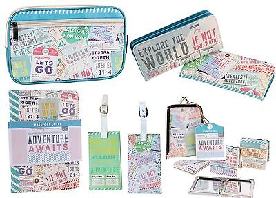 Passport Cover Wallet Document Holder Adventure Await Luggage Tag Sewing Kit