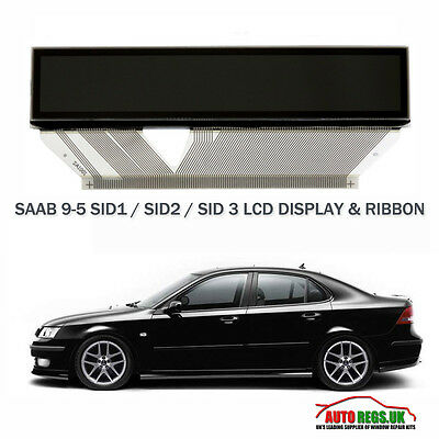 Saab 9-5 95 Lcd Display Sid 1 Sid 2 Sid 3 Saab Information Display Computer New