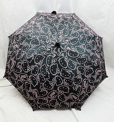 NWT Hello Kitty Umbrella by Sanrio Newest Style for Rainy Day or Sunny Day Black