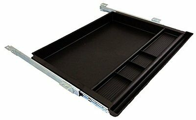 Pencil Drawer by NYCCO - 23 Inch Underdesk Drawer Ball Bearing Slides - Black