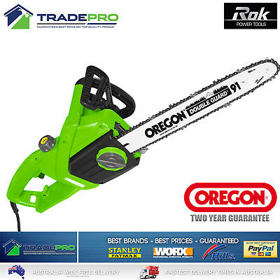 "Chainsaw NuPower® Oregon 91 16"" Bar PRO Auto Start Chain Saw Electric 2000w"