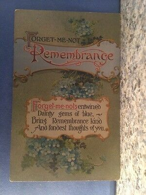 Postcard Forget Me Not Flowers Bring Remembrance