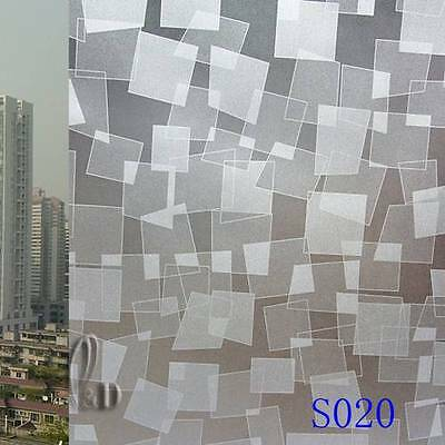 92cmx5m Home Office Privacy Frosted Frosting Removable Glass Window Film s020