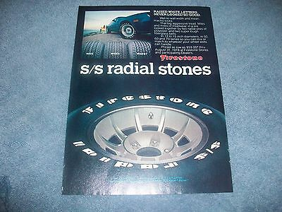 "1978 Firestone S/S Radial Vintage Tire Ad ""Raised White Letter's Never..."""
