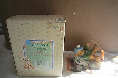 Cherished Teddies By Enesco SPENCER Head Over Skis For You NEW nib 269743