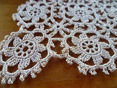 Lovely Vintage Quality Hand Crochet Dark Cream/Ecru Pattern Small Doily