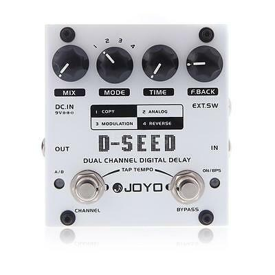 JOYO D-SEED Dual Channel Digital Delay Guitar Effect Pedal with Four Modes~ P8H1