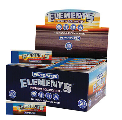 1 Box (50x) Elements Filter Tips perforiert slim Filtertips