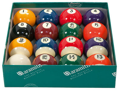 Aramith Spots and Stripes Premier Pool Balls 2 inch UK Set - Quality Ball Set