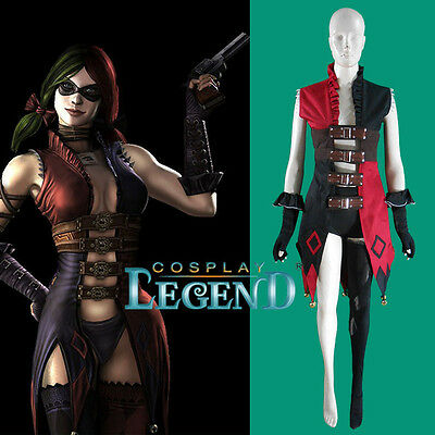 Harley Quinn Cosplay Costume From Injustice Gods Among Us Game Halloween Costume