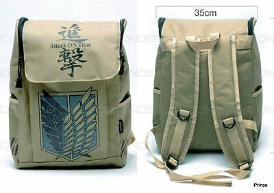 Attack on Titan Shingeki no Kyojin Scouting Legion Bagaglio Borsa Zaino