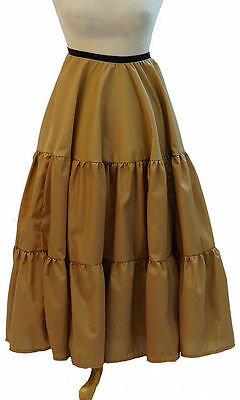 Steam-Punk-Victorian-Edwardian-Cos-Play-LONG TIERED COTTON PETTICOAT All Sizes