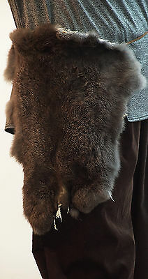 Medieval-LARP-Viking-Unisex-RABBIT FUR WAIST HANG/PELT ACCESSORY One Size