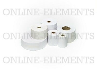 50 Bond Receipt Rolls 76Mm X 76Mm X 12Mm - 1Ply