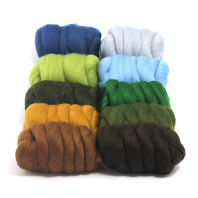 Country Garden - Dyed Merino Wool Top - Felting - Roving - Spinning - 250g