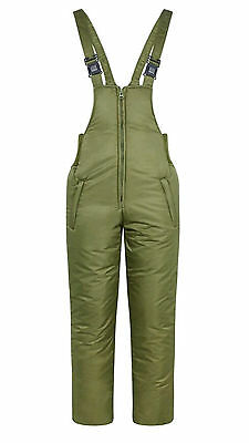 Olive Green Padded Bib & Brace Salopettes Pants Fishing/Shooting/Hiking
