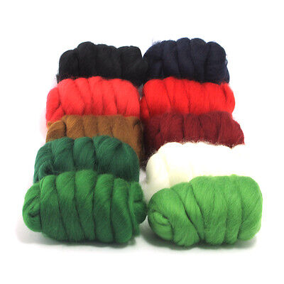 Christmas Cracker - Dyed Merino Wool Top - Felting - Roving - Spinning - 250g