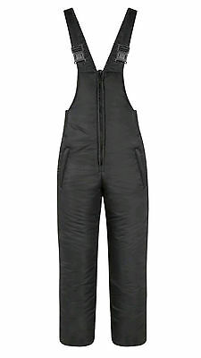 Black Padded Bib & Brace Salopettes Pants Fishing/Shooting/Hiking