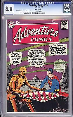Adventure Comics #276 Cgc 8.0  White Pages!  Superboy