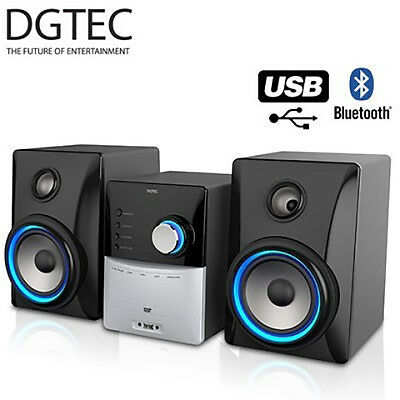 Brand New Dgtec Dgdvdhf-111 Dvd Hifi System Usb Bluetooth Aux-In Rrp$299.00