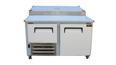 Cooltech 1-1/2 Door Refrigerated Pizza Prep Table S.S Top 48""
