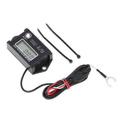LCD Engine Digital Tachometer Tach/Hour Meter RPM Tester For Motorcycles S2B4