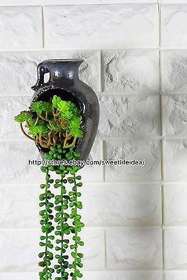 Ceramic Water Bottle Cacti Succulent Plant Pot Flower Wall Mount Hanging Planter