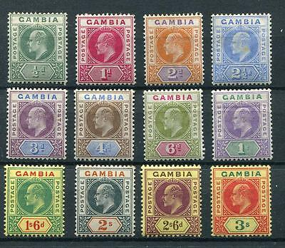 Gambia 1902-05 set SG45/56 MLH/MM cat £225