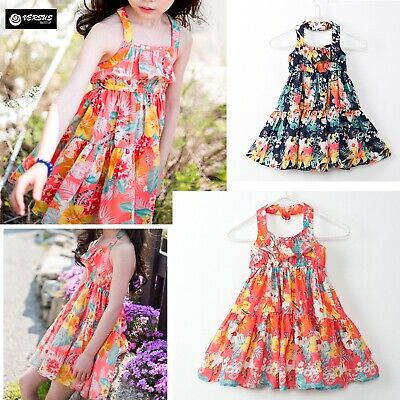 Vestito Bambina Abito Principessa Girl Summer Flower Princess Dress DG0044B P