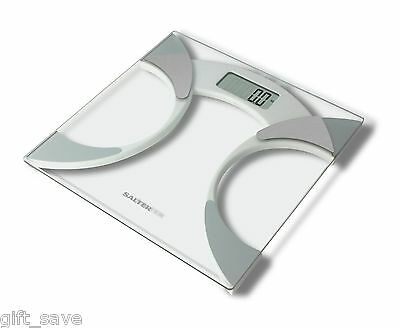 Salter 9141 Body Fat Analyser Bathroom Scale Glass Contemporary NEW