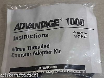 MSA 40mm Adapter -for Advantage 1000 Gas Mask - use NATO thread Filters 10012413