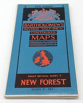 """Great Britain New Forest Bartholomew's Revised """"half-Inch"""" Contoured Maps"""