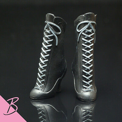 Shoes/Boots Black High Heel Boots for Mattel Barbie NEW #0870