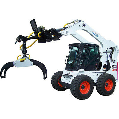 BSG ROTATING LOG Grapple Attachment | Move logs with your Skid Steer!