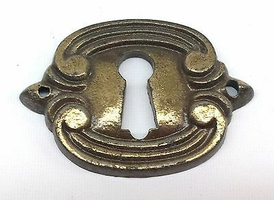 Vintage Solid Brass Scroll Key Hole Cover