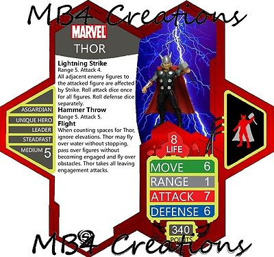 Heroscape Custom Marvel Thor Figure with Double-Sided Card