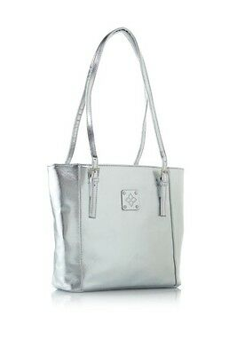 Serious Skin Care Silver Tone Tote - NEW In Package