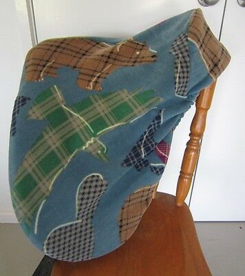 Horse Saddle cover Blue Indian print & FREE EMBROIDERY Aussie Made Protection