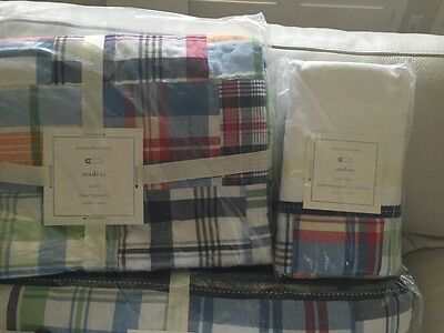 NWT Pottery Barn Kids Madras crib skirt only, No other item is included