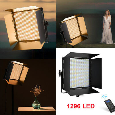 Bi-Color 108W Dimmable 1296 LED Video Light Panel With U Bracket CRI 96+ Remote