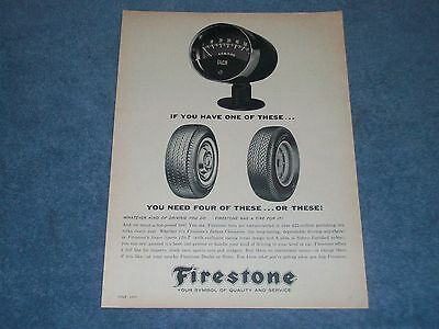 """1963 Firestone Tires Vintage Ad 'If You Have One Of These..."""""""