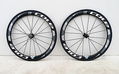 Cole C58 Lite Carbon Road Bike Wheelset - Black / Multi 700c Bike Wheel Set