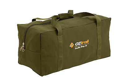 Oztrail  Tough Heavy Duty Canvas Duffle Bag Medium for camping hiking outdoor Gy