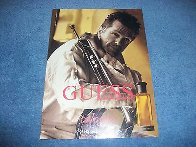 1991 Guess Mens Cologne Vintage Ad with Actor Tom Skerritt