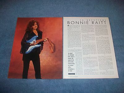 1989 Bonnie Raitt Vintage 20 Questions Interview Article